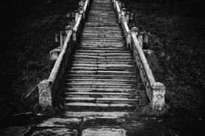 Alte Treppe sw