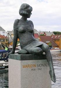 Marilyn Monroe Skulptur Haugesund